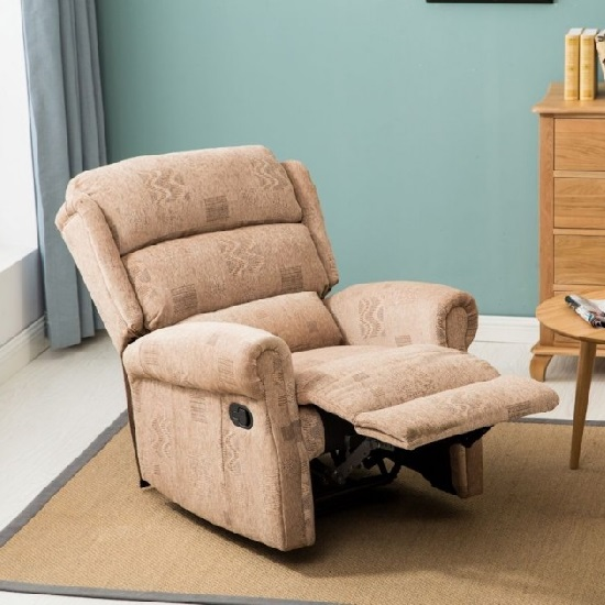Manningham Modern Recliner Chair In Wheat Fabric