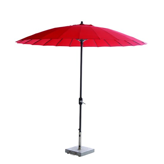 Manoya 250cm Round Parasol In Red