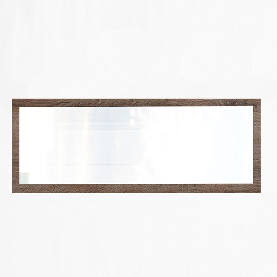 Mantova Contemporary Wall Mirror Rectangular In Muddy Oak Effect
