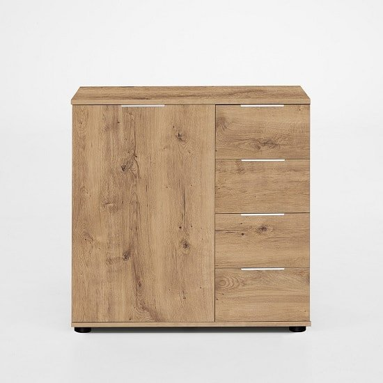 Mantova Wooden Combi Chest Of Drawers In Planked Oak Effect
