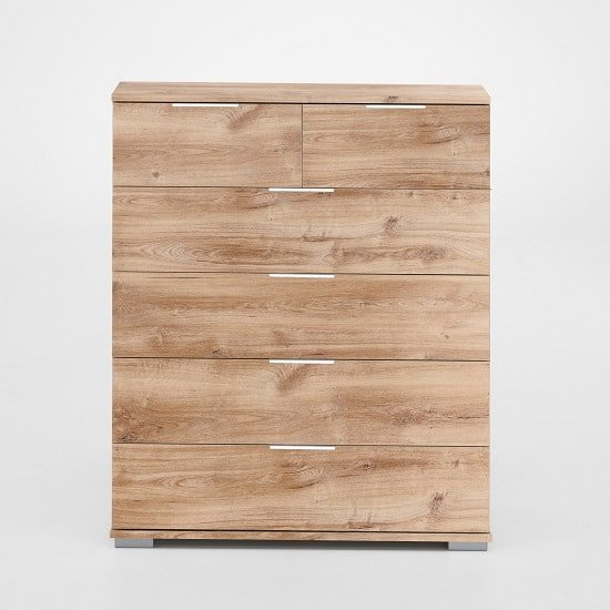 Mantova Wooden Chest Of Drawers In Planked Oak Effect