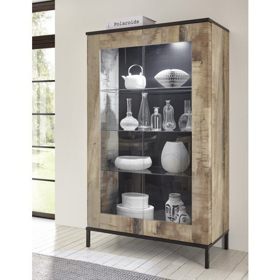 Shop display cabinets in glass & high gloss with led lights. Perfect for ornaments & diner plates in your living or dining room.