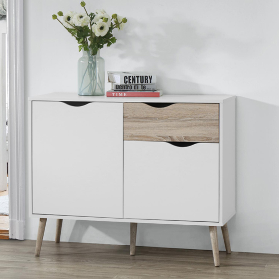 Mapleton Small Sideboard In White And Oak_1