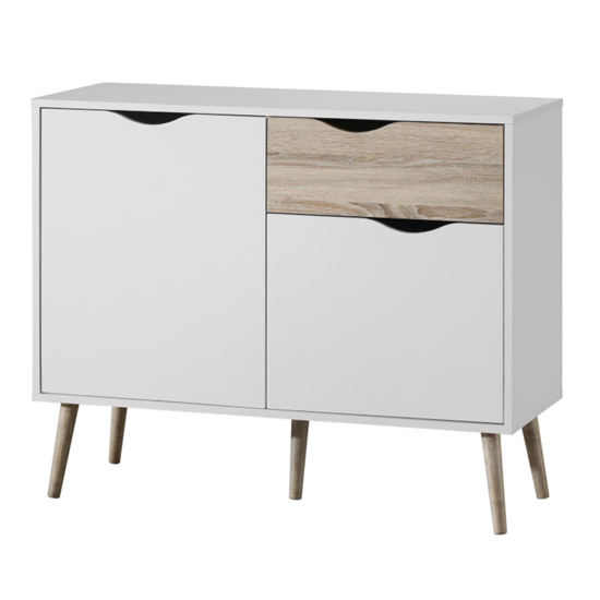 Mapleton Small Sideboard In White And Oak_2
