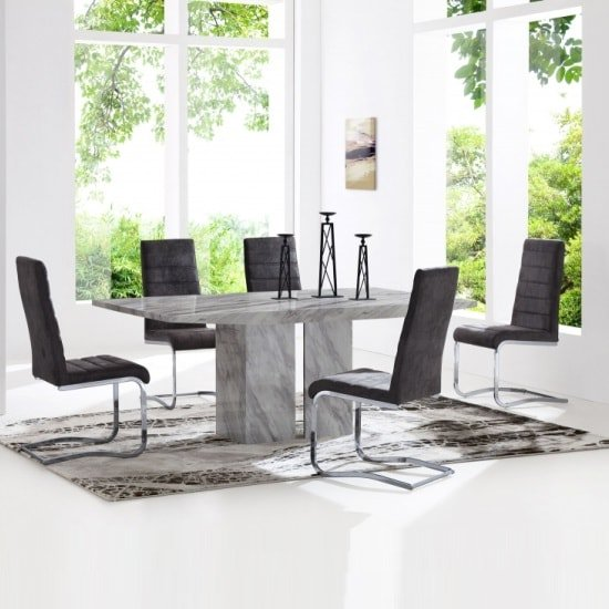 Marble Dining Table And 4 Chairs Sets UK