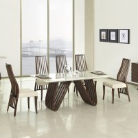 marble dining table and 6 chairs sets UK