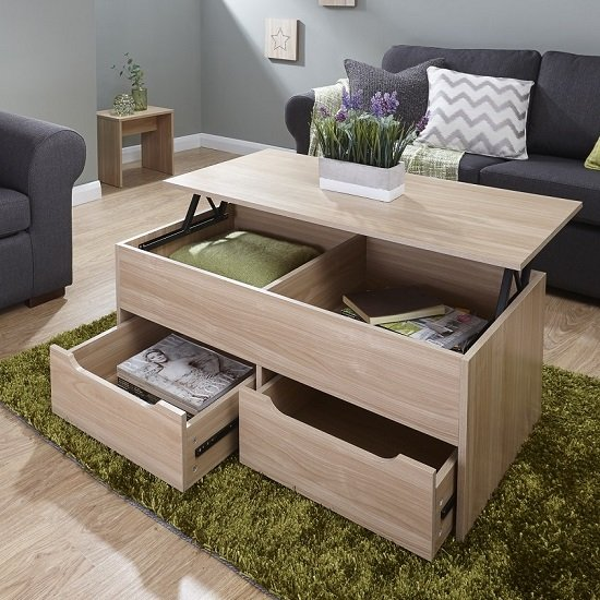 Marcello Storage Coffee Table In Oak With Lift Up Top_1