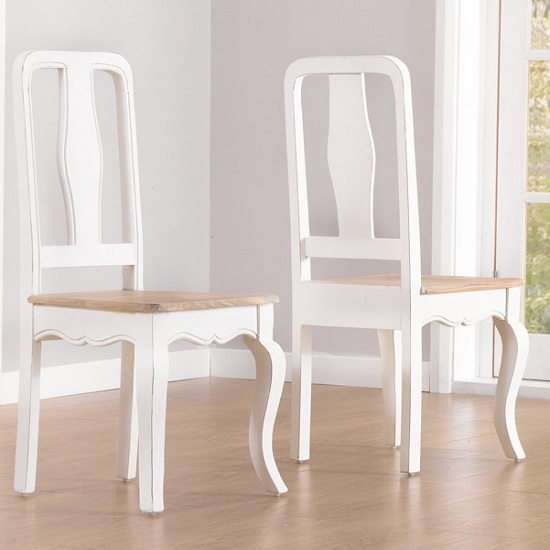 Marco Wooden Dining Table In Ivory With 6 Dining Chairs_5