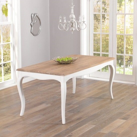 Marco Wooden Dining Table In Ivory With 6 Dining Chairs_2