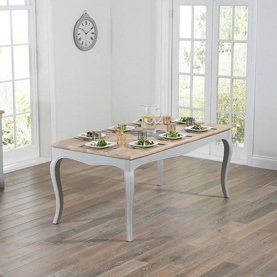 Marco Wooden Dining Table In Grey With 6 Dining Chairs_2