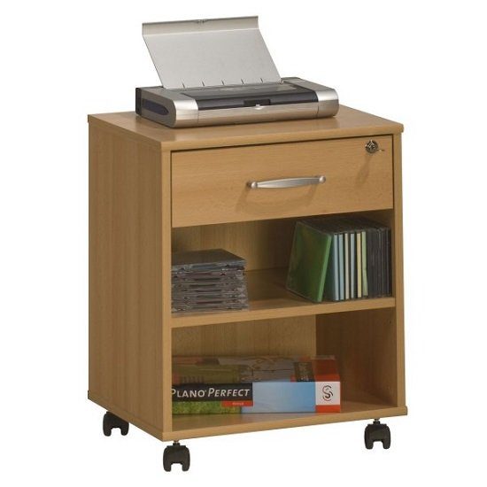Marconie Wooden Office Cabinet In Beech Finish