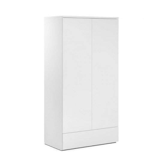 Marcus Wardrobe In White High Gloss With 2 Doors And 1 Drawer_1