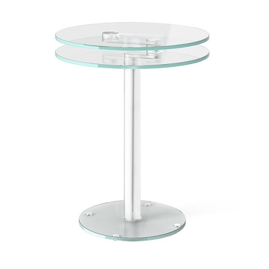 Marcy Swivel Extending Side Table In Clear Glass_1
