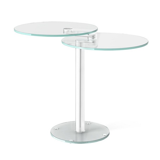 Marcy Swivel Extending Side Table In Clear Glass_2