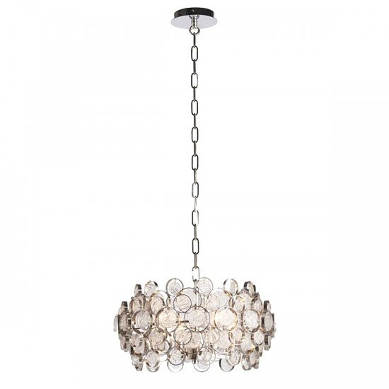 Marella Wall Hung 4 Pendant Light In Chrome