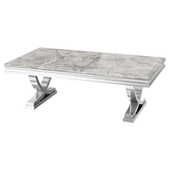 Maria Marble Coffee Table In Light Grey