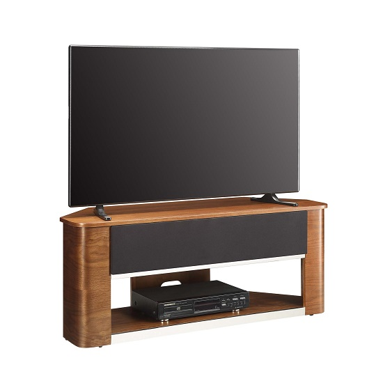 Marin Wooden Corner Acoustic TV Stand In Walnut_3