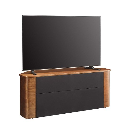 Marin Wooden Corner Acoustic TV Stand In Walnut_4