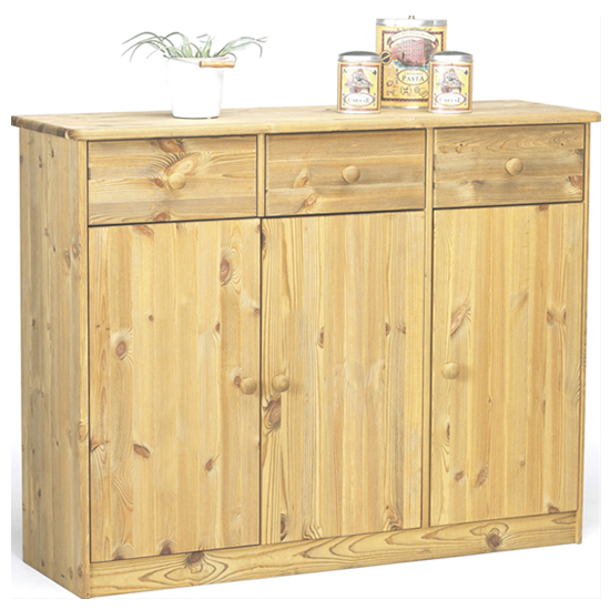 Mario Wooden Sideboard In Lyed Oil With 3 Doors 3 Drawers