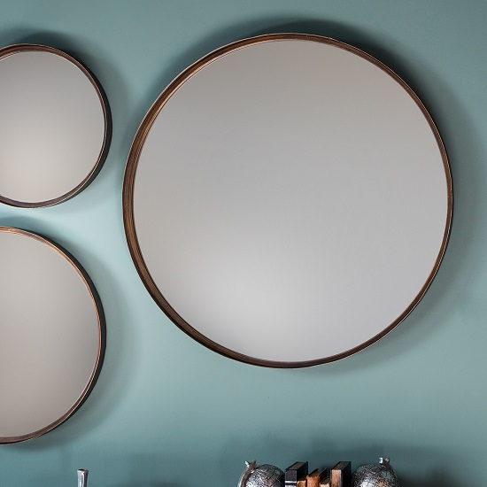 Marion Decorative Round Wall Mirror Large In Bronze_1