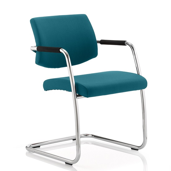 Marisa Office Chair In Kingfisher With Cantilever Frame