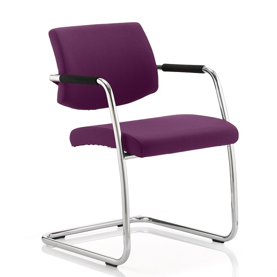 Marisa Office Chair In Purple With Cantilever Frame