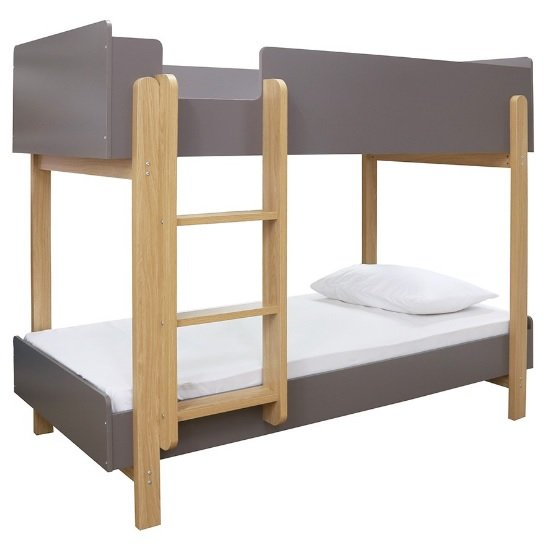 Marisol Wooden Bunk Bed In Matt Grey And Oak