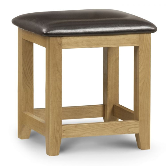 Marlborough Dressing Table Stool With Waxed Oak Legs_1