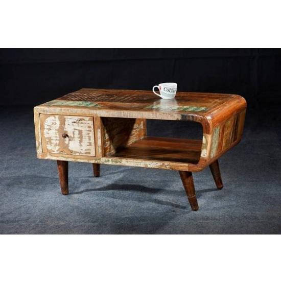 Marley Coffee Table In Reclaimed Wood With Metal Legs