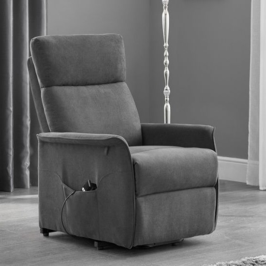 Marlow Rise and Recline Chair In Charcoal Grey Velvet