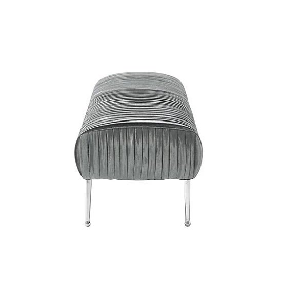 Marlox Modern Bench Charcoal Velvet With Chrome Legs_2
