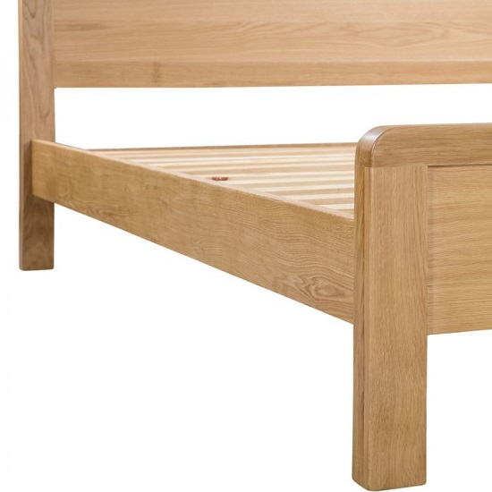 Marne Wooden Bed In Waxed Oak Finish With Curved Edging_6