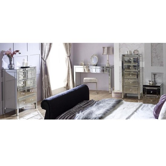 Marnie Tall Mirrored Chest Of Drawers With 5 Drawers_3