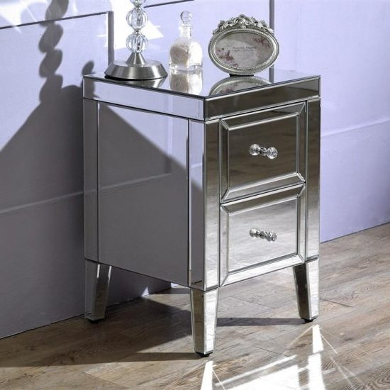 Marnie Mirrored Bedside Cabinet With 2 Drawers_1