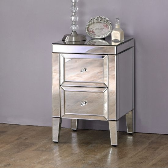 Marnie Mirrored Bedside Cabinet With 2 Drawers_2