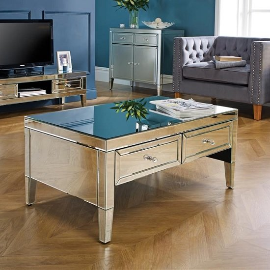 Marnie Mirrored Rectangular Coffee Table With 2 Drawers_2