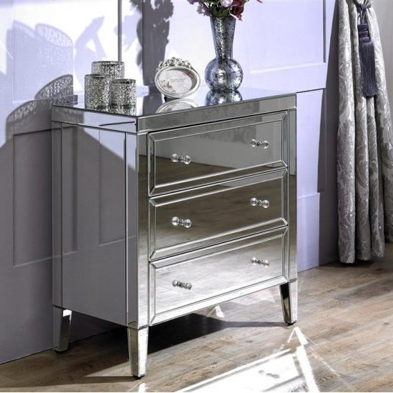 Marnie Modern Mirrored Chest Of Drawers With 3 Drawers_2