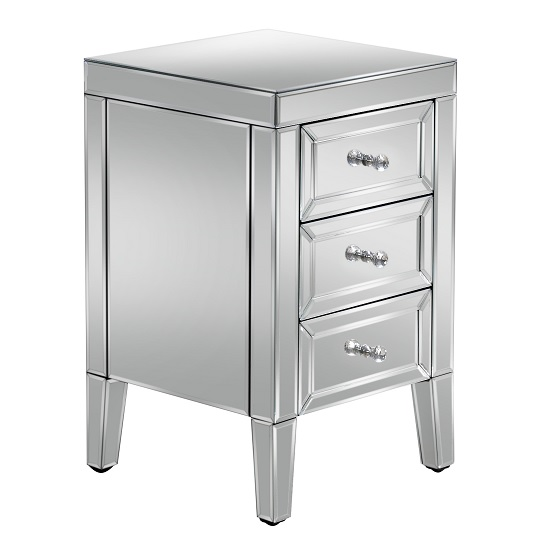 Marnie Mirrored Bedside Cabinet With 3 Drawers_2