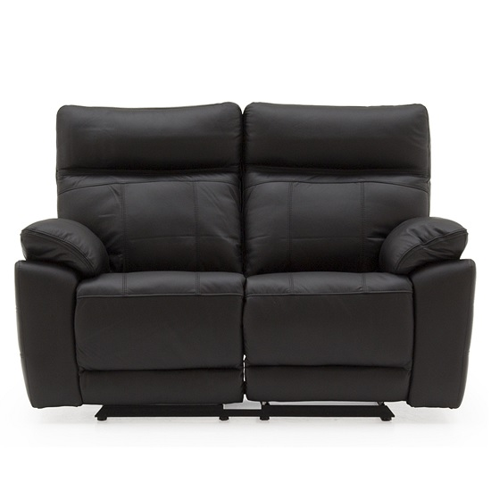 Marquess Recliner 2 Seater Sofa In Black Faux Leather