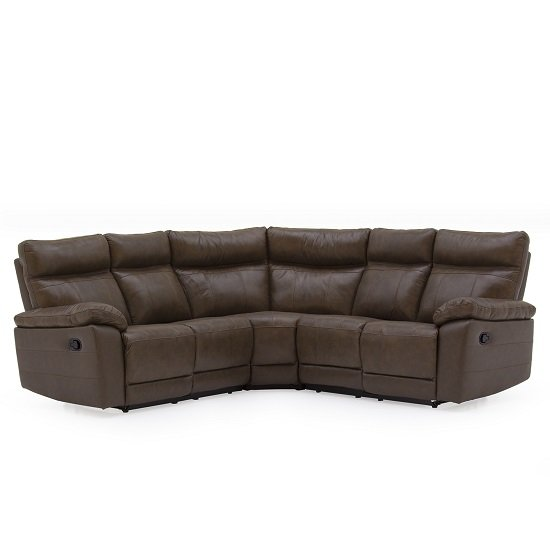 Marquess Recliner Corner Sofa In Brown Faux Leather_2