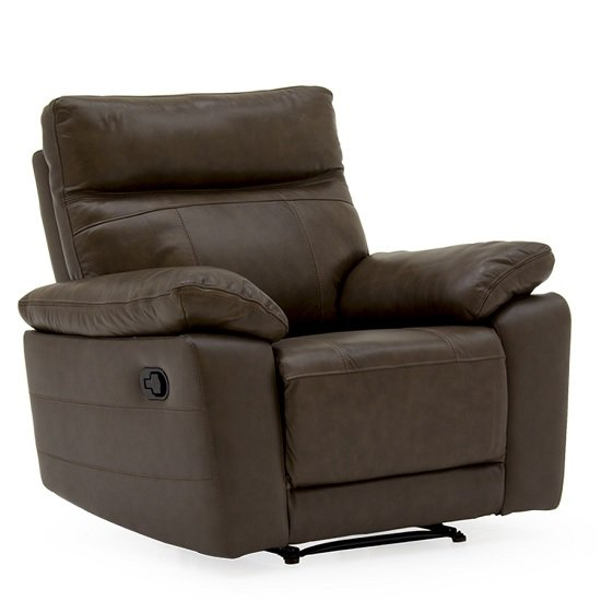 Marquess Recliner Sofa Chair In Brown Faux Leather