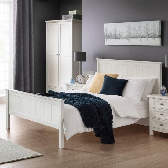 Marquis Contemporary Wooden Double Bed In White