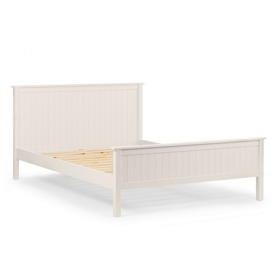 Marquis Contemporary Wooden King Size Bed In White_3