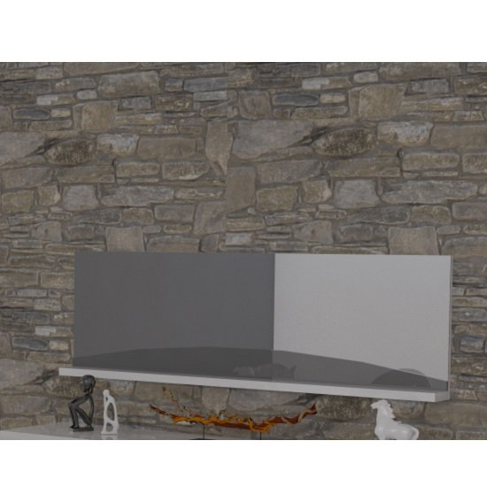 Read more about Marquis wall mirror rectangular in grey and white high gloss