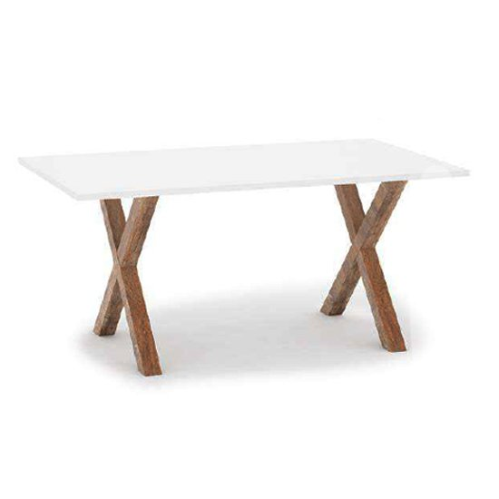 Marrek Wooden Dining Table In Milford Pine And White