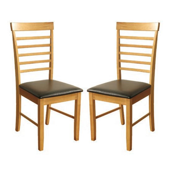 Marsic Light Oak Dining Chair In Pair