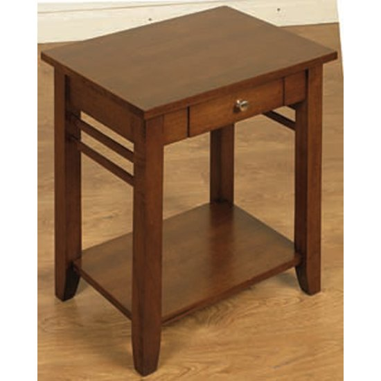 Marsic Wooden End Table In Dark