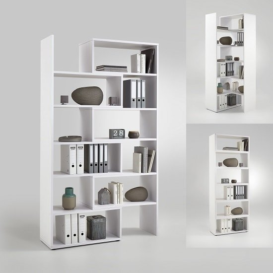 Marston Wooden Extendable Bookcase In White
