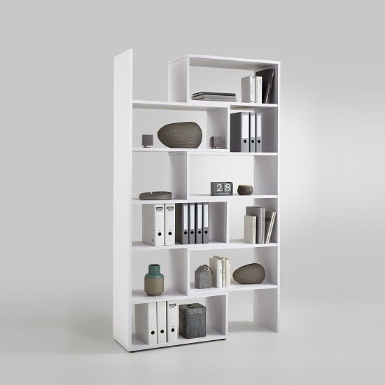 Marston Wooden Extendable Bookcase In White_2