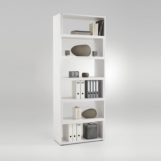 Marston Wooden Extendable Bookcase In White_5